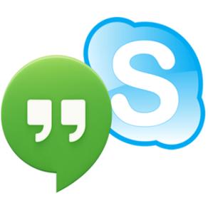 Skype, Hangout, Facetime, Phone, etc.
