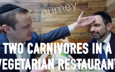 Two Carnivores in a Vegetarian Restaurant