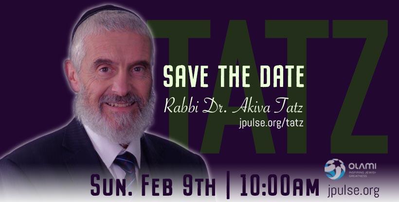 Lunch with Rabbi Dr. Akiva Tatz